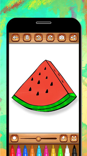 Fruits Coloring Book & Drawing Book android2mod screenshots 5
