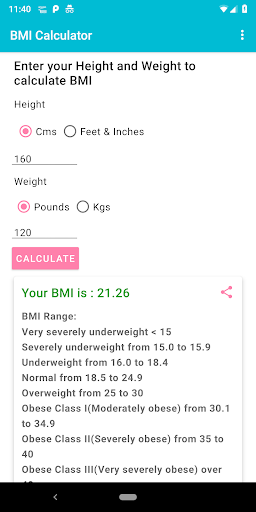 BMI Calculator For PC Windows (7, 8, 10, 10X) & Mac Computer Image Number- 7