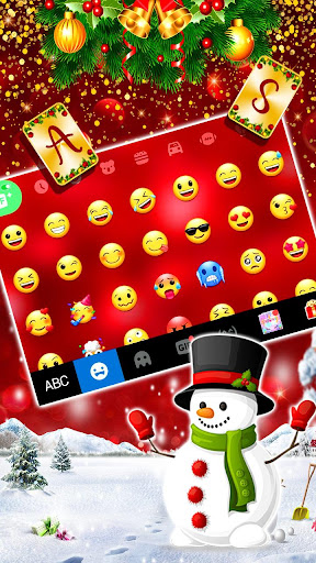 gold red christmas keyboard theme screenshot 2