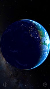 3D Earth - real earth image and space Screenshot