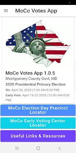 MoCo Voters App 1.0.9 Screenshots 1