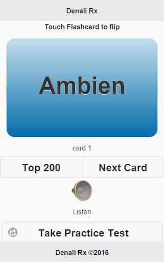 top 200 pharmacy drugs flashcards screenshot 2