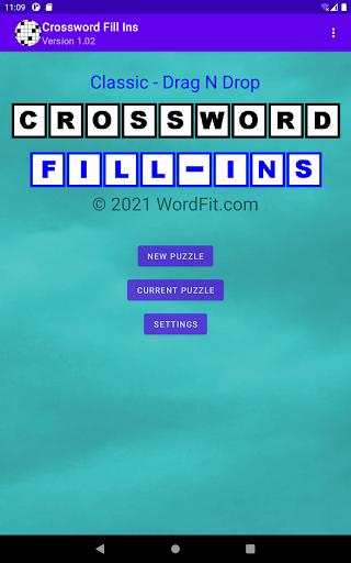 Classic Drag-n-Drop Crossword Fill-Ins 1.21 screenshots 6