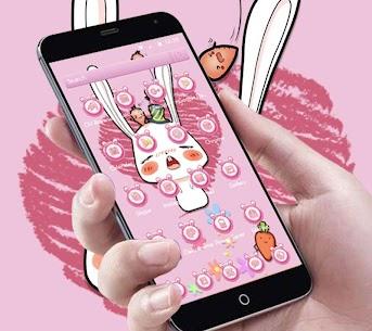 Pink Cute Cartoon Rabbit Theme 1.1.4 APK Mod Latest Version 2