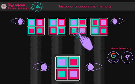 synapse - photographic memory brain training screenshot 1