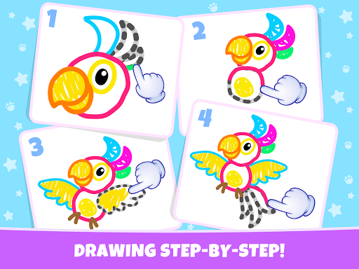 Pets Drawing for Kids and Toddlers games Preschool apkpoly screenshots 19