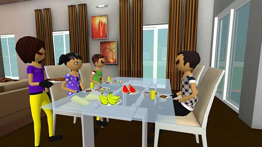 Virtual Stickman Family Life Adventure: Stick Game apkpoly screenshots 1