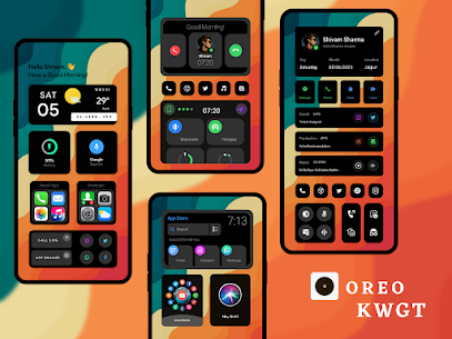 OREO KWGT Apk 2.1 (Paid) for Android 2