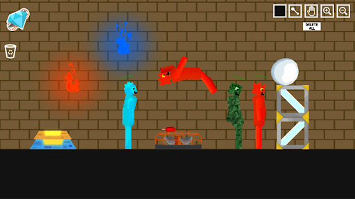 Fire and Water Playground: Red and Blue Ragdoll  screenshots 1