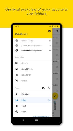 WEB.DE Mail & Cloud 6.19.1 screenshots 2