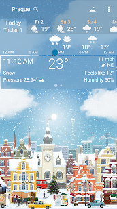 Awesome weather YoWindow + live weather wallpaper 4