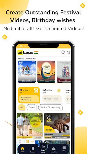AdBanao -Festival Poster, Banner & Video Maker App android2mod screenshots 5