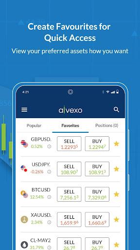 Alvexo: Online CFD Trading App on Forex & Stocks  screenshots 2