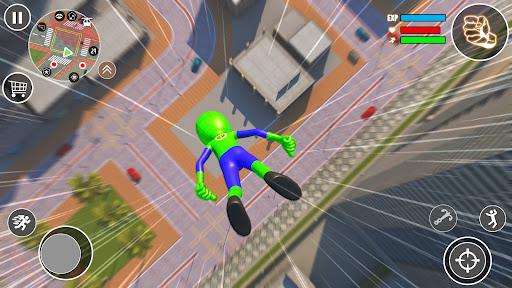 Flying Stickman Rope Hero  screenshots 1