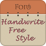 Handwrite Font Style Free  Icon
