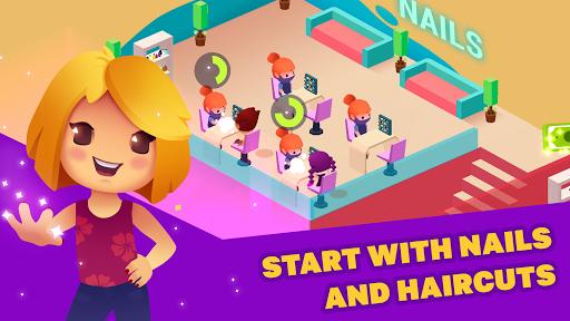 Idle Beauty Salon: Hair and nails parlor simulator apkslow screenshots 13