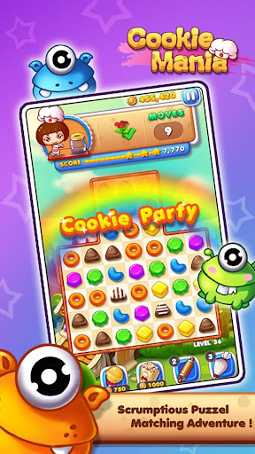 Cookie Mania - Match-3 Sweet Game modavailable screenshots 7