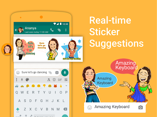 Bobble Indic Keyboard - Stickers, u0492onts & Themes android2mod screenshots 5