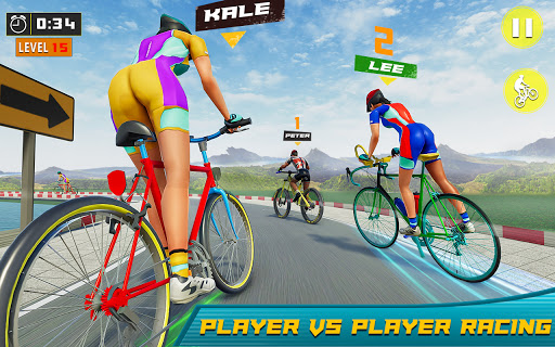 BMX Bicycle Rider - PvP Race: Cycle racing games 1.0.9 screenshots 6