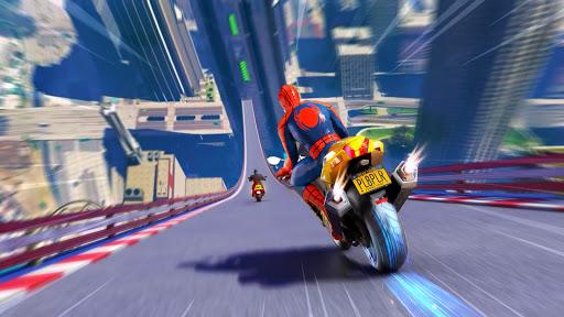 Télécharger Superhero Bike Stunt GT Racing - Mega Ramp Games  APK MOD (Astuce) screenshots 1