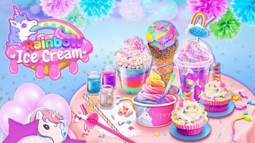 Rainbow Ice Cream - Unicorn Party Food Maker apktram screenshots 9