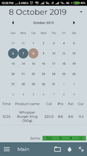 Nutrition Diary: calorie counter and FCP