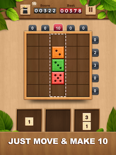 TENX - Wooden Number Puzzle Game  screenshots 6