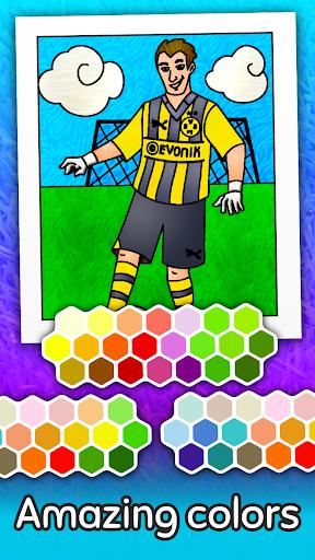 Football coloring book game apklade screenshots 2