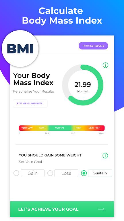 BMI Calculator: Body Fat Percentage & Ideal Weight  poster 1