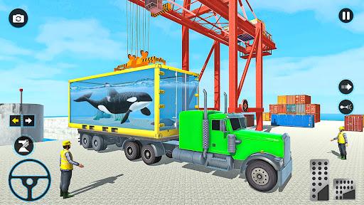 Sea Animals Transport Truck Driving Games  screenshots 2