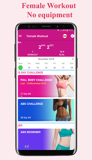 women workout - female fitness at home workout screenshot 1