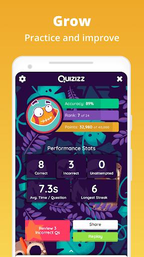 Quizizz: Play to learn  screenshots 4