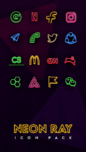 Neon Ray Icons –  Icon pack 1.1.3 Mod APK Download 1