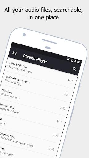 Stealth Audio Player - play audio through earpiece 29 Screenshots 1