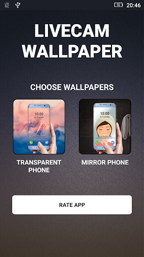 Transparent phone. Livecam Wallpaper 3.0 Screenshots 3