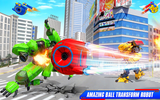 Flying Helicopter Car Ball Transform Robot Games android2mod screenshots 8