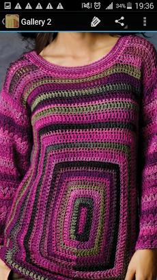 かぎ針編みのセーターのおすすめ画像4
