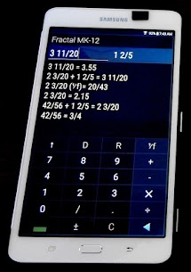"""Fraction Calculator """"Fractal MK12P"""" For Pc 