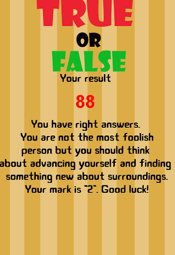 True or False - New version 1.2.6 screenshots 4