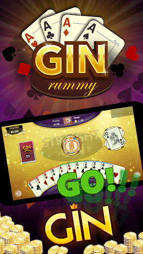 Gin Rummy - Offline Free Card Games apkpoly screenshots 1