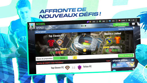 Code Triche Top Eleven 2021 : Deviens un manager de football (Astuce) APK MOD screenshots 2