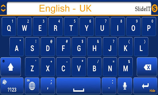 SlideIT English UK pack  screenshots 3