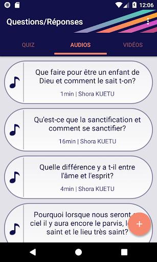 Questions/Reponses screenshots 9