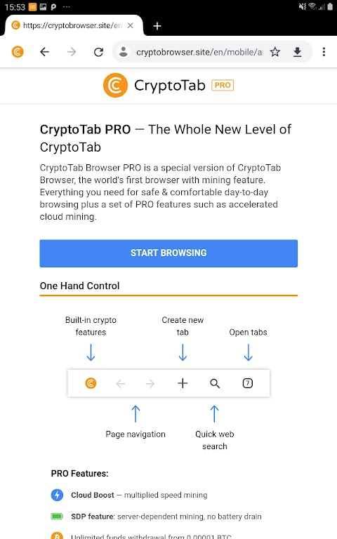 CryptoTab Browser Pro—mine on a PRO level poster 10