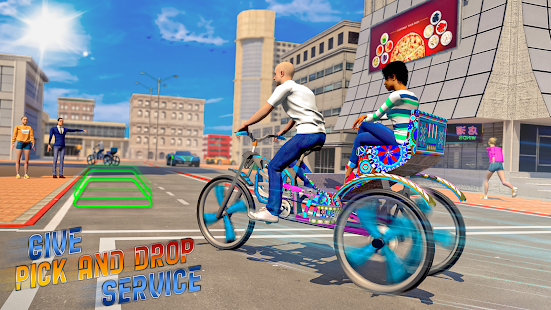 BMX Bicycle Taxi Driving City Passenger Simulator 1.2 Screenshots 4