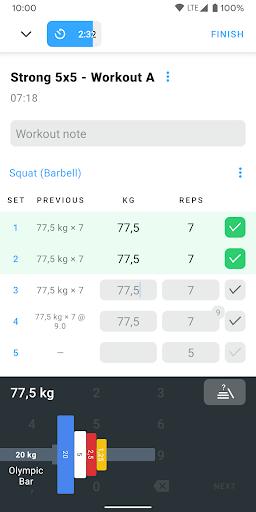 Strong - Workout Tracker Gym Log 2.5.9 Screenshots 2
