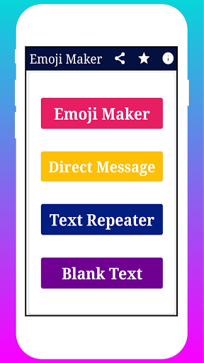 Emoji Maker - Direct message Sender, Stylish Text 1.6 screenshots 2