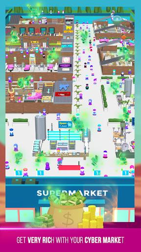 Cyberpunk Market u2013 Idle Tycoon game simulator Apk 3 screenshots 3