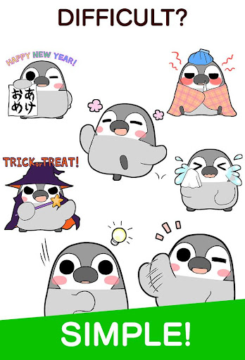 Pesoguin Stickers android2mod screenshots 3