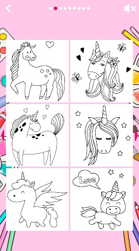 Unicorn Coloring Book ud83eudd84 2.2 screenshots 14